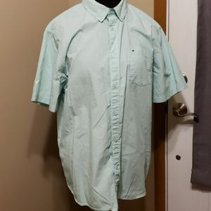 Mint green billabong short sleeve button down